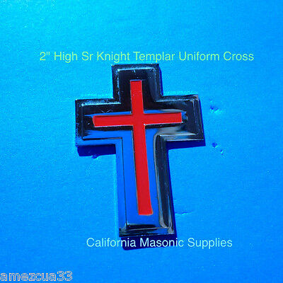 "Templar Sir Knight silver  With Red 2"" Uniform and Hat  Cross York Rite masons"