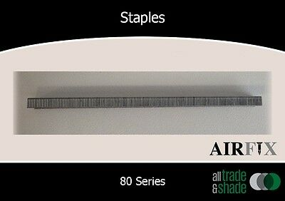 Staples – 80 Series - Electrogal Finish  - Size: 12mm x 12.9mm - Box:10,000