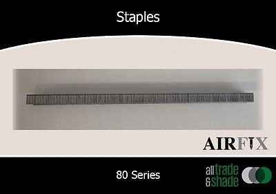 Staples – 80 Series - Electrogal Finish  - Size: 8mm x 12.9mm - Box:10,000