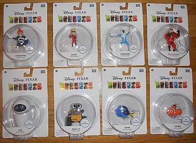 Disney Pixar Figure Set 12 Frozone Syndrome Eve Mo Squirt Dash Bruce Thinkway