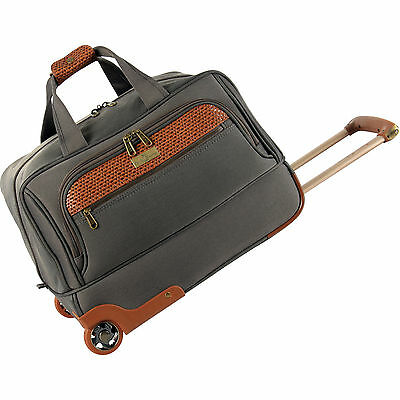 "TOMMY BAHAMA RETREAT II BROWNSTONE BROWN 19"" ROLLING DUFFLE - $340 VALUE"