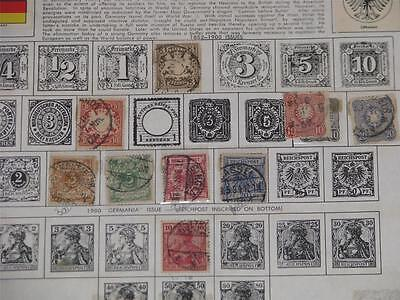 Germany, Old stamp collection, Used & Unused, no pages, Lot # 4