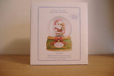 Filled W/xmas Joy~Water Globe ~Plays Deck The Halls~Precious Moments~121104~