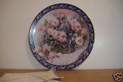 ~Roses~Lena Liu's Basket Bouquets~Collector Plate~