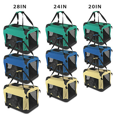 Pet Dog Carrier Portable House Crate Cage Soft Sided Cat Comfort Travel Tote Bag