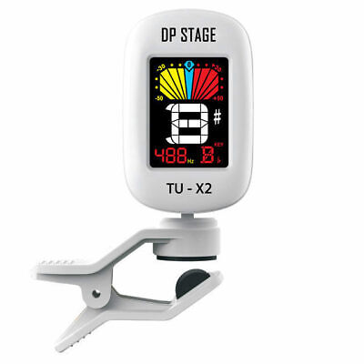 Chromatic Clip On Guitar Tuner Full Colour LCD Display DP Stage TUX2