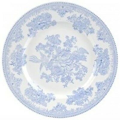 New Burleigh Asiatic Pheasants blue & white china side tea plate 17.5cm