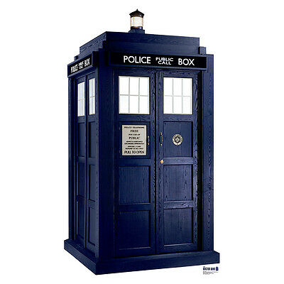 TARDIS 2D Doctor Who Dr. Who Lifesize CARDBOARD CUTOUT Standup Standee Poster