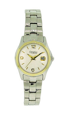 Caravelle by Bulova 45M103 Women's Round Analog Silver Tone Date Watch