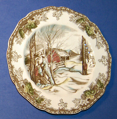 JOHNSON BROTHERS ENGLAND FRIENDLY VILLAGE 6 1/4 INCH BREAD & BUTTER PLATE (14-C)
