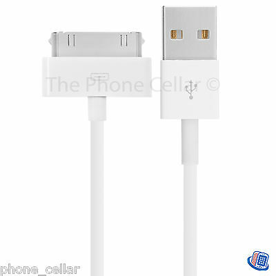 Authentic New Genuine Apple OEM USB 30-Pin Charger Cable iPhone 3G 3GS 4S 4 iPod