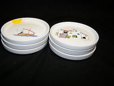 """Set of Six (6) 3 5/8"""" Limoges Seve Plates, Coasters, Dishes –Excellent Condition"""