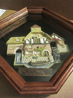 1990 David Winter Cottages - Pershore Mill in Shadow Box - Excellent Condition