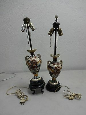 20% OFF!   Pair of antique Chinese Satsuma double handled urn electric lamps