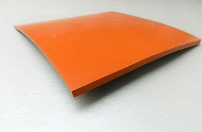"1/4"" SILICONE RUBBER SHEET HIGH TEMP SOLID RED/ORANGE COMMERCIAL GRADE 8""x8"" SQ"