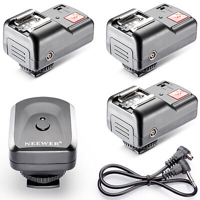 4CH Wireless Remote FM Radio Flash Speedlite Trigger w/2.5mm 3 Receivers EM#01
