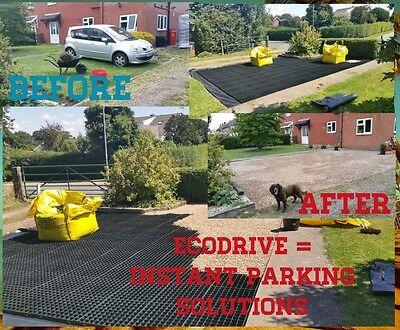 GRAVEL DRIVEWAY ECODRIVE PARKING GRIDS +HD MEMBRANE PLASTIC ECO GRAVEL GRID sm