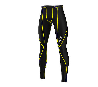 FDX Mens compression Base layer long pants legging running trouser under tight