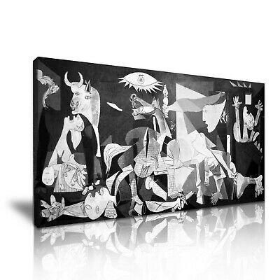 GUERNICA ~ Pablo Picasso 1-21 Canvas Framed Printed Wall Art ~ More Size