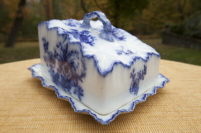 Carlton Ware Flow Blue Covered Cheese Dish