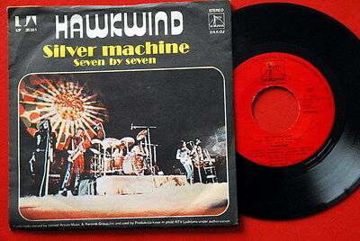 "Hawkwind Silver Machine 1975 Red Label Exyugo 7""Ps  N/mint Lemmy"