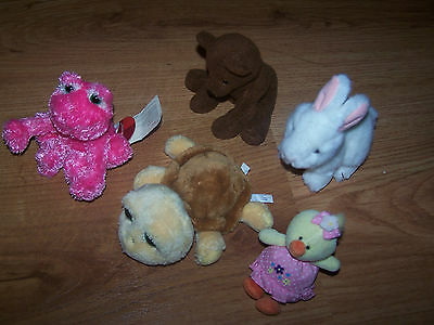 Lot of 5 Russ Animals:  Shelly, Nibblet, Fruggy, Cubby,  etc..