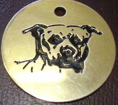 Staffy  Brass Id Tag. Staffie. Freepost! Free Engraving