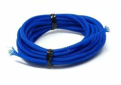 5 metres  3mm UV Blue PC Cable Sleeving braiding