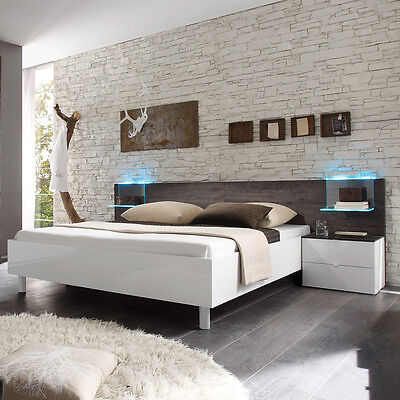 bettanlage tambura bett wei lack eiche wenge 180x200 cm. Black Bedroom Furniture Sets. Home Design Ideas