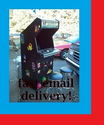MAME COMPATIBLE PC ARCADE Project Plans! FREE Shipping! DIY!