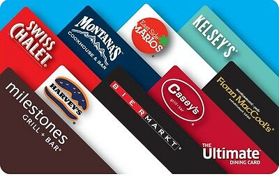 The Ultimate Dining Card - $50 Mail Delivery
