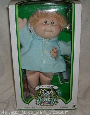 VINTAGE CABBAGE PATCH KIDS 25TH ANNIVERSARY BABY DOLL STUFFED ANIMAL PLUSH TOY