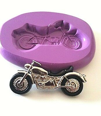 MOTORBIKE Silicone Mould 35mm Sugarcraft Fimo Cake Decorate Icing Tool Fondant