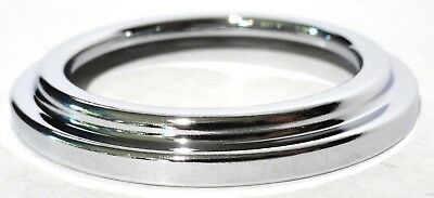 Gauge cover small plain chrome plated metal for Freightliner 2000 & older 2 1/4""