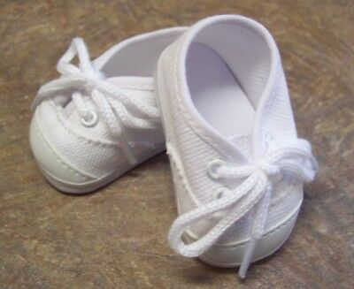 """White Canvas Tennis Shoes Sneakers made for 18"""" American Girl Doll Clothes"""