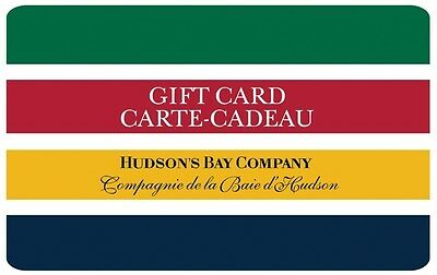 Hudson's Bay Gift Card - $25 Mail Delivery
