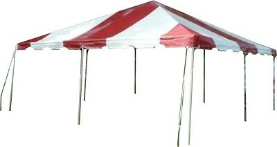 20 x 20 Red Replacement TOP ONLY West Coast Frame Tent Tentandtable Awning