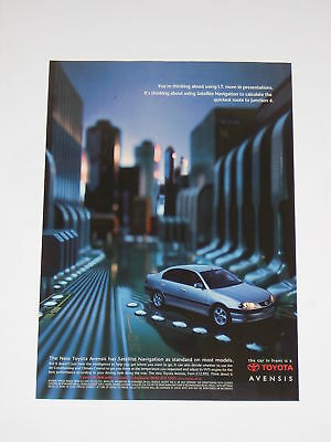Toyota Avensis Advert from 2000 - Original