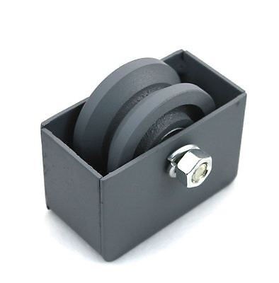 "3"" Cast Iron V Groove Wheel Plus Weldable Wheel Box For Rolling/Sliding Gates"