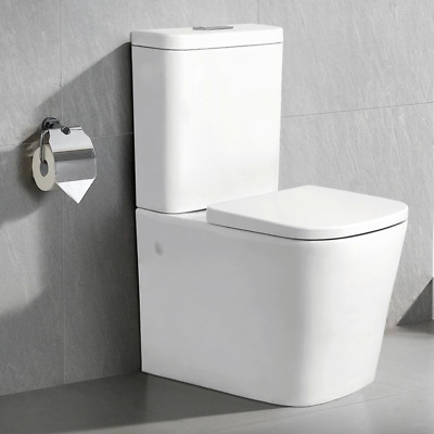 Winston Square Bathroom Toilet Suite Wall Faced Back To Wall Close Couple Ren003