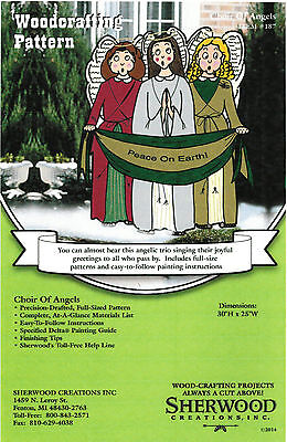 Choir of Angels Christmas Yard Art Woodworking Plans by Sherwood Creations
