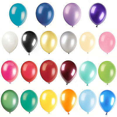 """12"""" Pearly Party Balloons Celebrations Wedding Birthday Engagement Kids Helium"""