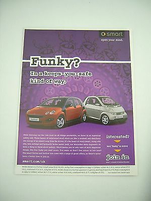 Smart fortwo and forfour Advert from 2005 - Original