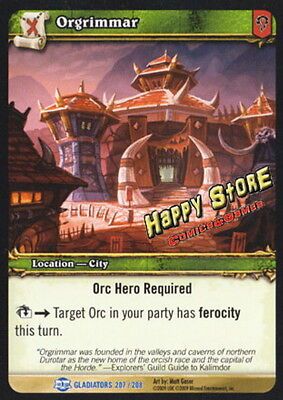 WOW TCG : Blood of Gladiators Orgrimmar 207/208 RARE - English
