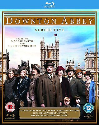 "DOWNTON ABBEY DOWNTOWN ABBEY COMPLETE SEASON SERIES 5 Blu Ray Box set RB ""sale"""