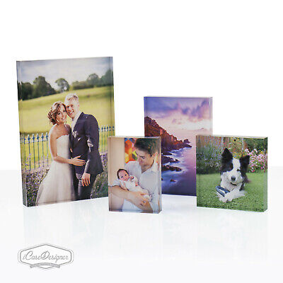Personalised Acrylic Photo Block Frame. The Perfect Create-Your-Own Gift
