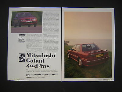 Mitsubishi Galant 4WD 4WS Road Test from 1989 - Original
