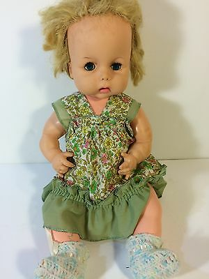Vintage Horsman Thirstee Baby Doll 13 Inches