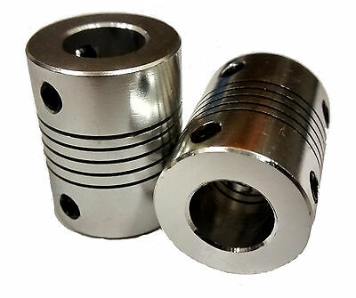 5x10mm Motor Shaft Coupler ideal for 3D printer shafts, Reprap, CNC 5mm to 10mm