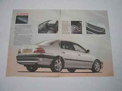 Toyota Avensis Special Feature Advert - 1997 - 8 pages